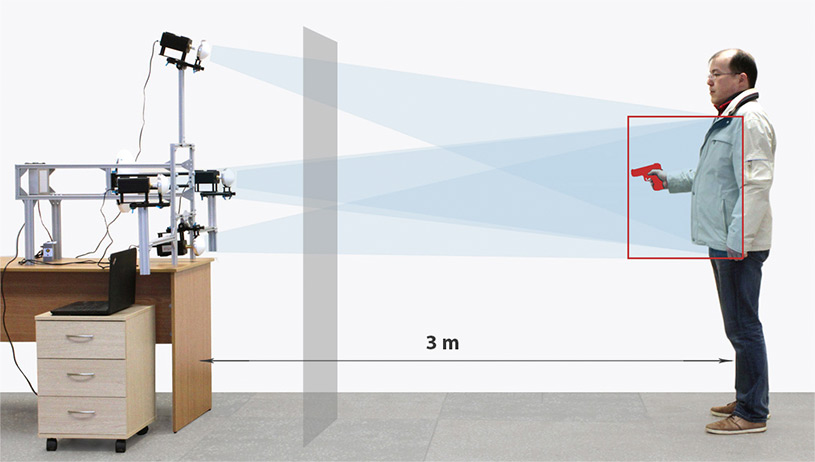 TeraSense Terahertz security body scanner